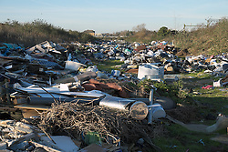 Fly tipping in Purfleet, Essex