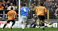 Photo: Paul Thomas.<br /> Wolverhampton Wanderers v Birmingham City. Coca Cola Championship. 22/04/2007.<br /> <br /> Michael McIndoe (32) of Wolves has his last minute penalty saved by Birmingham keeper Colin Doyle (Ground).