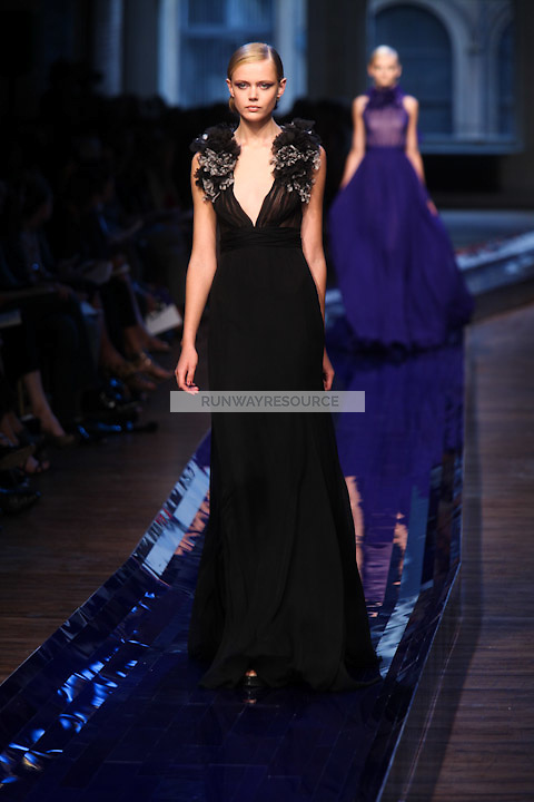 Frida Gustavsson walks the runway wearing Jason Wu Spring 2011 Collection during Mercedes Benz Fashion Week in New York on September 10, 2010