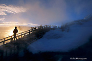 Mammoth Hot Springs Winter Sunrise in Yellowstone National Park