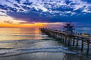 San Clemente Pier on an Evening in December