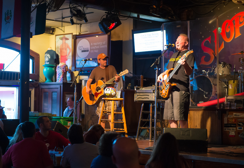 KEY WEST, FL - CIRCA 2012: Band playing in Slopppy Joe's Bar in Key West circa 2012. The tropical city is a popular tourist destination with over 2 million yearly visitors.