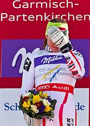08-02-2011 SKIEN: FIS ALPINE WORLD CHAMPIONSSHIP: GARMISCH PARTENKIRCHEN<br /> Winner and World Champion Elisabeth GOERGL (AUT) during Women Super G, Fis Alpine Ski World Championships in Garmisch Partenkirchen<br /> **NETHERLANDS ONLY**<br /> ©2011-WWW.FOTOHOOGENDOORN.NL/NPH-J. Feichter