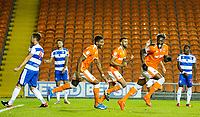 Blackpool's Armand Gnanduillet celebrates scoring the opening goal <br /> <br /> Photographer Alex Dodd/CameraSport<br /> <br /> The Carabao Cup Third Round - Blackpool v Queens Park Rangers - Tuesday September 25th 2018 - Bloomfield Road - Blackpool<br />  <br /> World Copyright © 2018 CameraSport. All rights reserved. 43 Linden Ave. Countesthorpe. Leicester. England. LE8 5PG - Tel: +44 (0) 116 277 4147 - admin@camerasport.com - www.camerasport.com