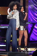 October 13, 2012- Bronx, NY: (L-R) Actresses Tracy Ellis Ross and Regina King at the Black Girls Rock! Awards presented by BET Networks and sponsored by Chevy held at the Paradise Theater on October 13, 2012 in the Bronx, New York. BLACK GIRLS ROCK! Inc. is 501(c)3 non-profit youth empowerment and mentoring organization founded by DJ Beverly Bond, established to promote the arts for young women of color, as well as to encourage dialogue and analysis of the ways women of color are portrayed in the media. (Terrence Jennings)