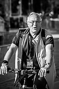 Plovdiv, Bulgaria, Friday,  07.09.18. FISA competition member and Greek Rowing coach, Gianni Postglione , FISA, World Rowing Championships,  © Karon PHILLIPS,<br /> <br /> Time, 07:13:42,  f8,  230mm,  1/500/sec