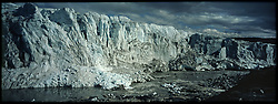 Russell Glacier and the foot of the In-land Ice near Kangerlussuaq, Greenland. The glacier has receded hundreds of meters in recent years.