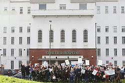 Junior doctors' strike, St Helier hospital, South London 12 January 2016