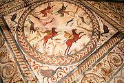 PORTUGAL, ROMAN PERIOD Conimbriga; hunting scene mosaic