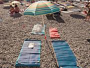 Camogli, Liguria, daily life along the beach