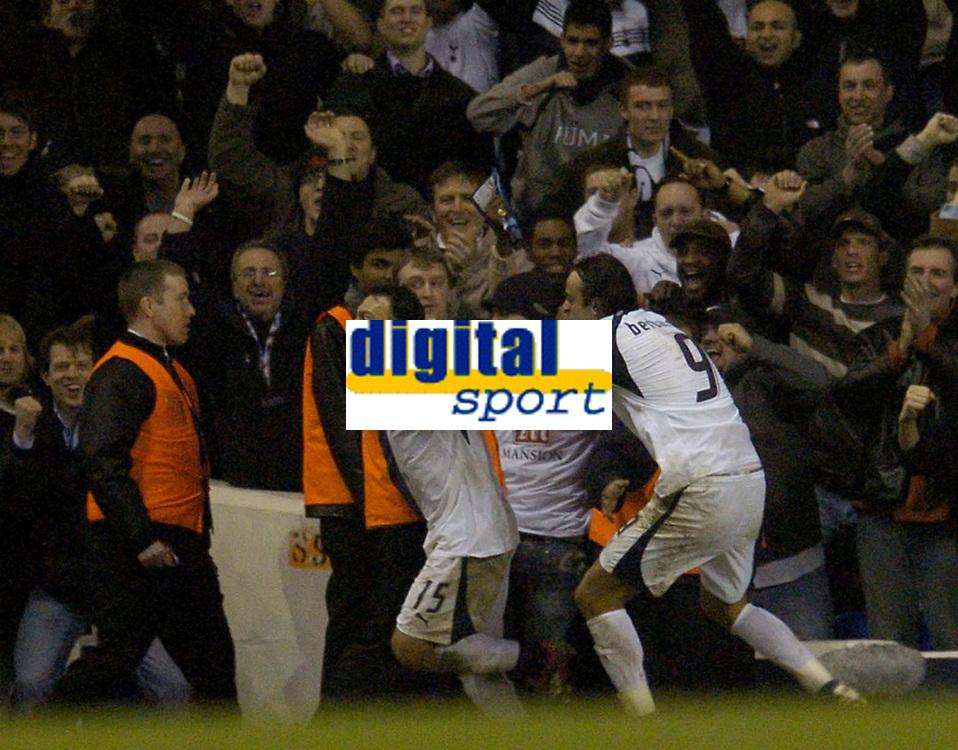 Photo: Olly Greenwood.<br />Tottenham Hotspur v FC Braga. UEFA Cup. 14/03/2007. Tottenham's Steed Malbranque celebrates scoring the 3rd goal