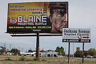 Fracking industry billboard in Lovington New Mexico, part of the Permian Basin which is experience an oil boom due to the fracking industry.