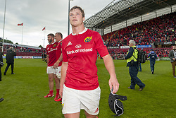 May 20, 2017 - Limerick, Irland - Tyler Bleyendaal of Munster celebrates after the Guinness PRO12 Semi-Final match between Munster Rugby and Ospreys at Thomond Park Stadium in Limerick, Ireland on May 20, 2017  (Credit Image: © Andrew Surma/NurPhoto via ZUMA Press)