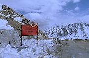 Khardung - The highest motorable road in the world 18380 feet above sea level - Ladakh 2006