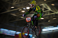 #222 (RIMSAITE Vilma) LTU at the 2014 UCI BMX Supercross World Cup in Manchester.