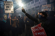 London, UK. Wednesday 19th November 2014. Student Assembly Against Austerity demonstration in protest at education spending cuts, tuition fees, and the resulting students debt.