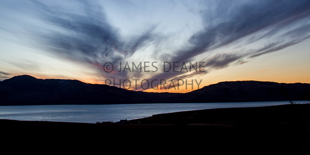 The Sound of Islay on a Winter afternoon, photographed from Jura