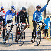NLD/Biddinghuizen/20150308 - De Hollandse 100 by Lymph & Co, aankomst Patrick Kluivert