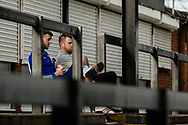 Ipswich Staff sit and watch the EFL Sky Bet League 1 match between Bristol Rovers and Ipswich Town at the Memorial Stadium, Bristol, England on 19 September 2020.