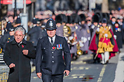 The speaker, John Bercow is escorted away after - Remembrance Sunday and Armistice Day commemorations fall on the same day, remembering the fallen of all conflicts but particularly the centenary of the end of World War One.