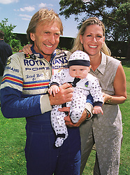 MR & MRS DEREK BELL, he is the racing driver and their son SEBASTIAN, at a car rally in West Sussex on 20th June 1999.MTM 96