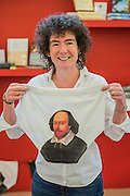 Jeanette Winterson with Shakespear souvenir underpants to commemorate his 400th anniversary - The London Book Fair, celebrating its 45 year anniversary, is the global marketplace for rights negotiation and the sale and distribution of content across print, audio, TV, film and digital channels. Staged annually, LBF sees more than 25,000 publishing professionals arrive in London for the week of the show to learn, network and kick off their year of business. The London Book Fair sits at the heart of London Book & Screen Week, and runs from the 12-14 April 2016.