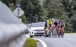 11.07.2019, Kitzbühel, AUT, Ö-Tour, Österreich Radrundfahrt, 5. Etappe, von Bruck an der Glocknerstraße nach Kitzbühel (161,9 km), im Bild Spitzengruppe, Tom Wirtgen (Wallonie Bruxelles, LUX), Brice Feillu (Arkea Samsic, FRA), Mario Gamper (Tirol KTM Cycling Team, AUT) // Spitzengruppe, Tom Wirtgen (Wallonie Bruxelles, LUX), Brice Feillu (Arkea Samsic, FRA), Mario Gamper (Tirol KTM Cycling Team, AUT) during 5th stage from Bruck an der Glocknerstraße to Kitzbühel (161,9 km) of the 2019 Tour of Austria. Kitzbühel, Austria on 2019/07/11. EXPA Pictures © 2019, PhotoCredit: EXPA/ JFK