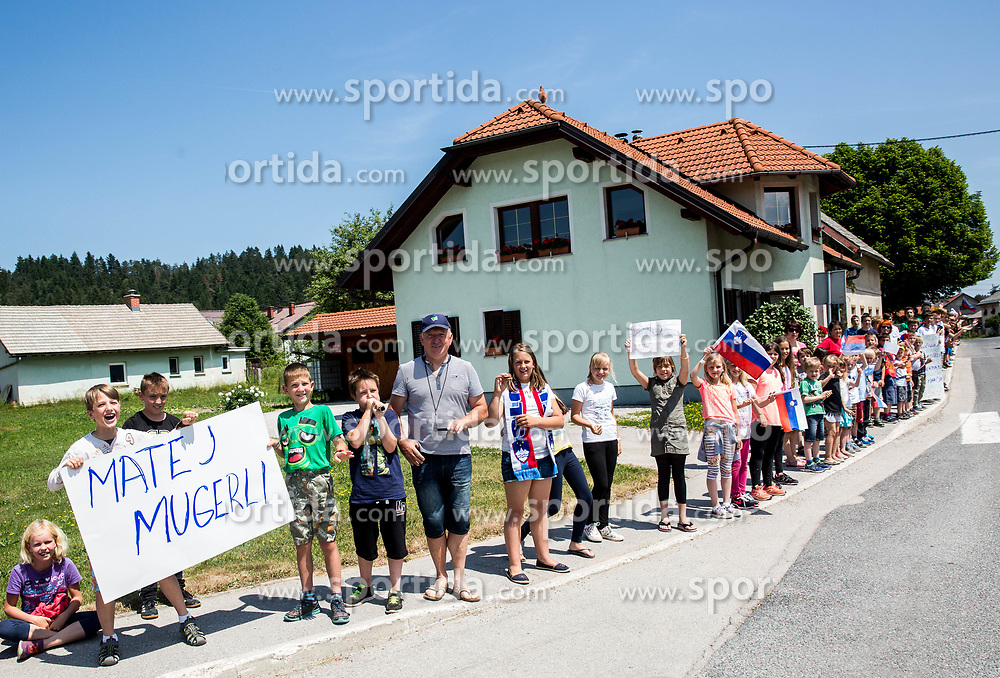 Supporters of Matej Mugerli during Stage 1 of 24th Tour of Slovenia 2017 / Tour de Slovenie from Koper to Kocevje (159,4 km) cycling race on June 15, 2017 in Slovenia. Photo by Vid Ponikvar / Sportida