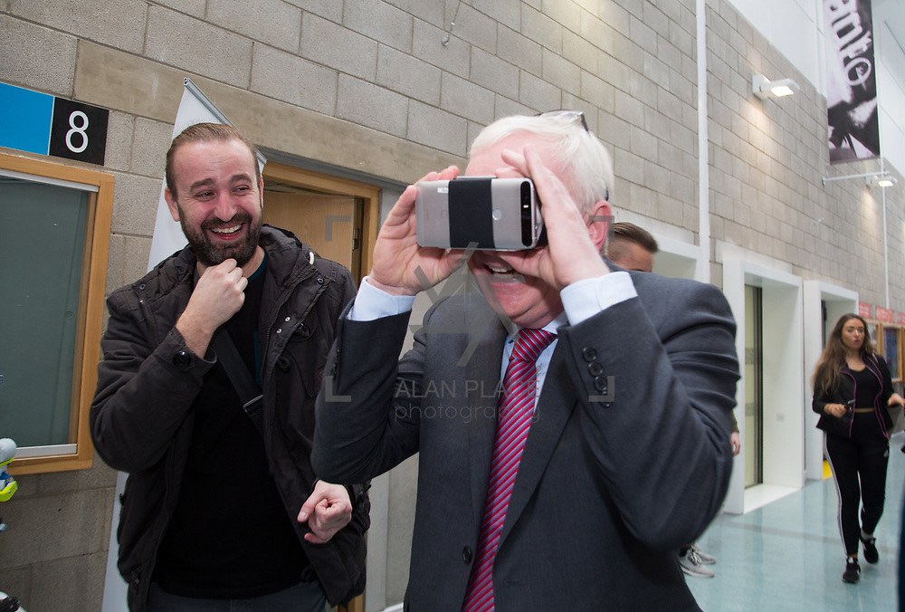 20.10.17.            <br /> Enjoying the LIT (Limerick School of Technology) open day was LIT President Prof. Vincent Cunnane. Picture: Alan Place