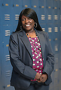 Carla Brown poses for a photograph at Madison High School, February 19, 2015.
