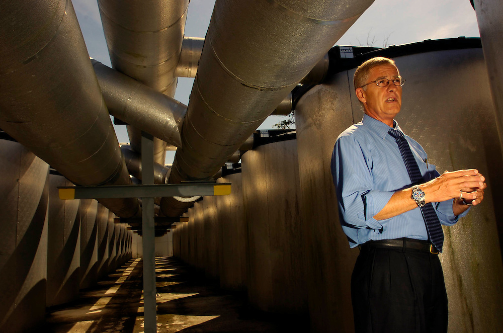 Tampa,Fl. -Randy Klindworth, energy manager for Hillsborough County talks about energy savings  he saved the county with the chilled water plant.    (TAMPA TRIBUNE/SCOTT ISKOWITZ)