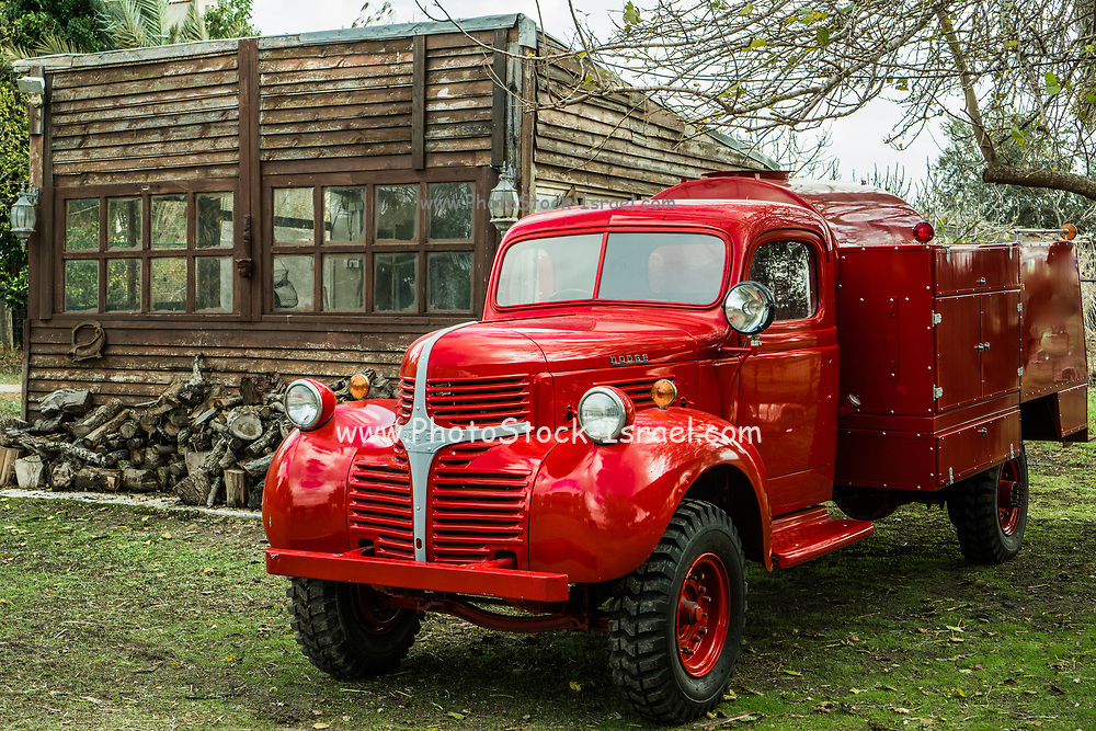 1943 red Dodge fire truck