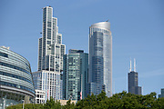 South Loop lakefront skyline in Chicago.<br /> Photo by Mark Black