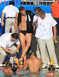 02.09.2010, Zagreb, CRO, LEN European Championship, Water Polo, Men, Greece VS Germany, im Bild Germany head coach Hagen Stamm. EXPA Pictures © 2010, PhotoCredit: EXPA/ nph/ Antonio Bronic +++++ ATTENTION - OUT OF GERAMANY / GER +++++