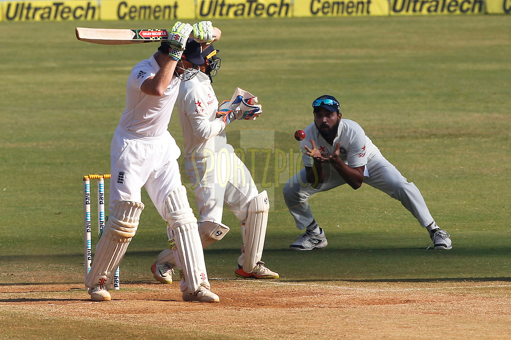Murali Vijay of India in action during day 5 of the fourth test match between India and England held at the Wankhede Stadium, Mumbai on the 12th December 2016.<br /> <br /> Photo by: Deepak Malik/ BCCI/ SPORTZPICS