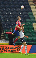 Preston North End's Jayden Stockley is fouled by Blackburn Rovers' Darragh Lenihan<br /> <br /> Photographer Dave Howarth/CameraSport<br /> <br /> The EFL Sky Bet Championship - Preston North End v Blackburn Rovers - Tuesday 24th November 2020 - Deepdale - Preston<br /> <br /> World Copyright © 2020 CameraSport. All rights reserved. 43 Linden Ave. Countesthorpe. Leicester. England. LE8 5PG - Tel: +44 (0) 116 277 4147 - admin@camerasport.com - www.camerasport.com