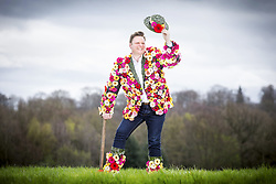 April 4, 2017 - Harrogate, Yorkshire, UK - Harrogate UK. North of England Horticultural Society director Nick Smith dons his coat of many flowers to launch national Wear a Flower Day in Harrogate today. National Wear a Flower day is being introduced on 20th April, the first day of the Harrogate Flower Show by the North of England Horticultural Society organisers of the Harrogate Flower Show, with the aim of persuading people to choose a favourite bloom and wear it for the day in celebration, in commemoration or simply to make someone smile. (Credit Image: © Andrew Mccaren/London News Pictures via ZUMA Wire)