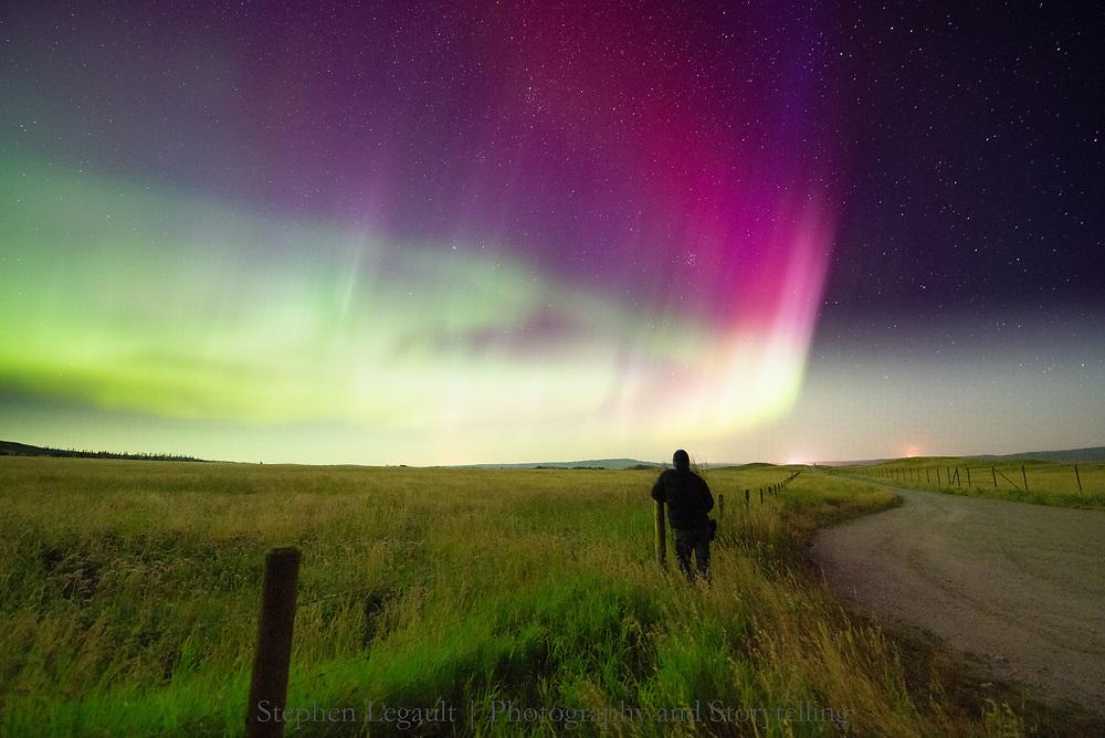 Aurora, Self Portrait, Waterton Lakes National Park