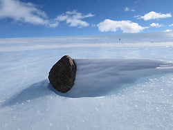 December 19, 2015 - Miller Range, Antarctica - A meteorite on the blue ice field in the Miller Range. (Credit Image: © NASA/ZUMA Wire/ZUMAPRESS.com)