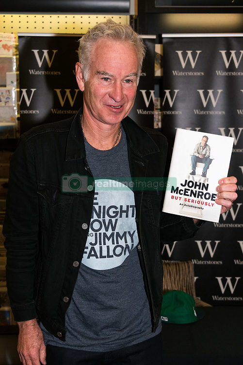 June 30, 2017 - London, London, UK - London, UK. Tennis legend John McEnroe at his 'But Seriously' autobiography book signing at Waterstone's book store  (Credit Image: © Ray Tang/London News Pictures via ZUMA Wire)