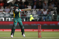 JP Duminy of South Africa plays a delivery behind square during the 5th ODI match between South Africa and Australia held at Newlands Stadium in Cape Town, South Africa on the 12th October  2016<br /> <br /> Photo by: Shaun Roy/ RealTime Images