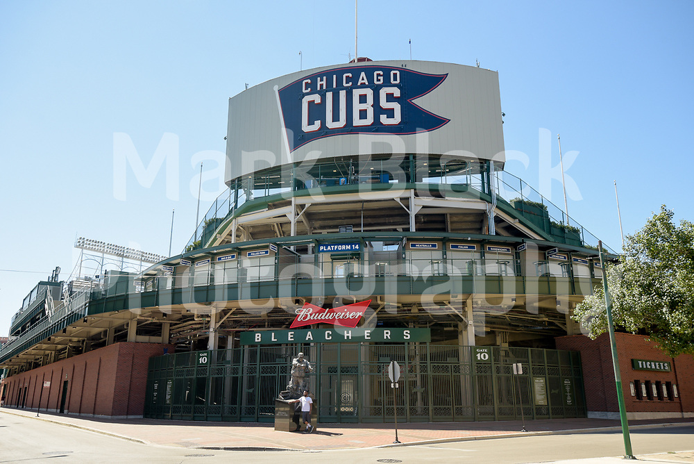 The historic Wrigley Field is home to the Chicago Cubs baseball team in Chicago, Illinois on Friday, Sept. 4, 2020. Photo by Mark Black