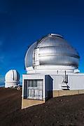 Observatories on the summit on Mauna Kea, The Big Island, Hawaii USA