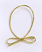 Festive golden rubber band