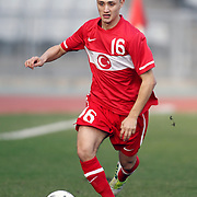 Turkey U21's Fatih Turan during their friendly soccer match Turkey U21 betwen Norway U21 at Ataturk Olympic stadium in Istanbul February 06, 2013. Photo by Aykut AKICI/TURKPIX
