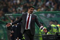 April 22, 2017 - Lisbon, Portugal - Benfica's head coach Rui Vitoria reacts during the Portuguese League football match Sporting CP vs SL Benfica at the Alvadade stadium in Lisbon on April 22, 2017. (Credit Image: © Pedro Fiuza/NurPhoto via ZUMA Press)