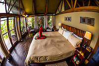 Luxury safari tent, Lebala Camp, Kwando Concession, Linyanti Marshes, Botswana.