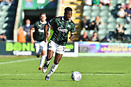 Freddie Ladapo (19) of Plymouth Argyle on the attack during the EFL Sky Bet League 1 match between Plymouth Argyle and Burton Albion at Home Park, Plymouth, England on 20 October 2018.