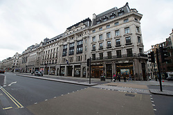© Licensed to London News Pictures. 15/03/2020. London, UK. Regents Street appears quiet this afternoon . New cases of the COVID-19 strain of Coronavirus are being reported daily as the government outlines it's plans for controlling the outbreak. Photo credit: George Cracknell Wright/LNP