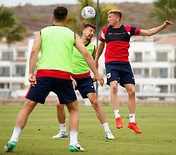 Taylor Moore challenges Jens Hegeler of Bristol City - Mandatory by-line: Matt McNulty/JMP - 21/07/2017 - FOOTBALL - Tenerife Top Training Centre - Costa Adeje, Tenerife - Pre-Season Training